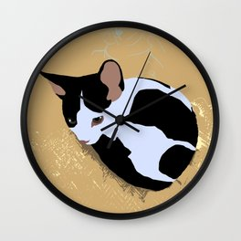Kitten ball collage Wall Clock