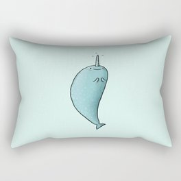 Happy Narwhal Rectangular Pillow