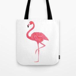 Flamingo fuchsia flap Tote Bag