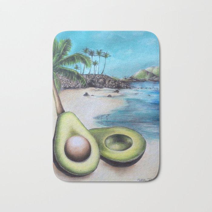 Beach Avocado's Bath Mat