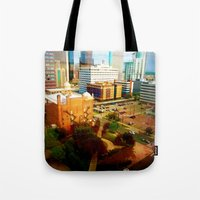denver Tote Bags featuring Denver by Stolen Milk