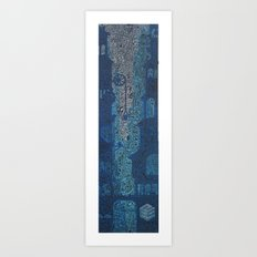 blue city no empty spaces Art Print