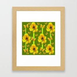 "GREEN AMARYLLIS ""FOR THE LOVE OF BUTTERFLIES"" Framed Art Print"