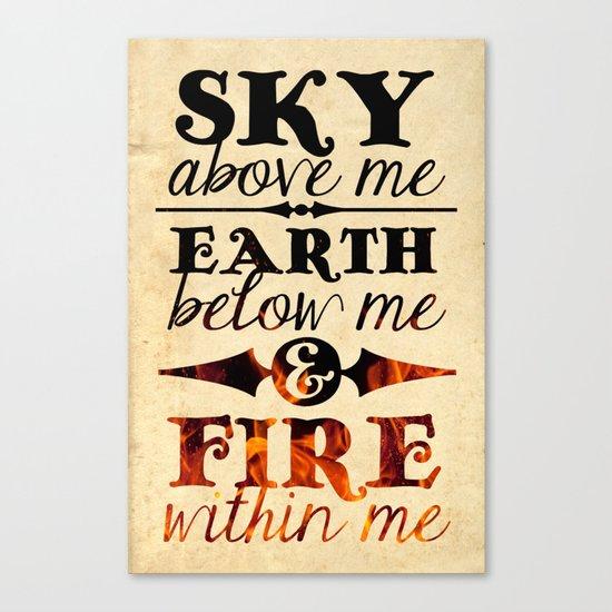 Sky Earth Fire Canvas Print