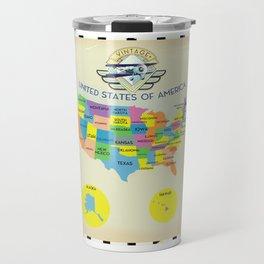 United States of America vintage style Map Travel Mug