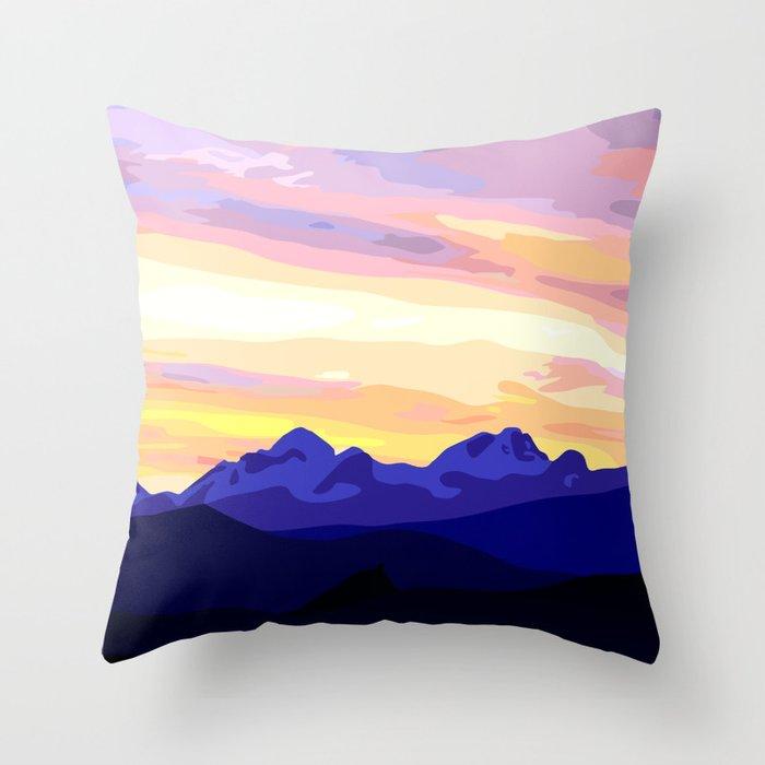 Triglav (2864m) Sunset Throw Pillow