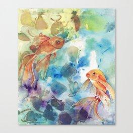 Goldfish Dance Canvas Print