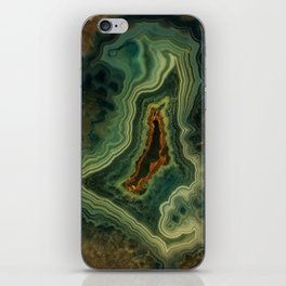 The world of gems - green agate iPhone Skin