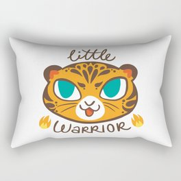 Baby Big Cats Little Warrior Tiger Cub Rectangular Pillow