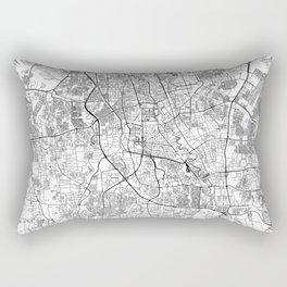 Jakarta White Map Rectangular Pillow