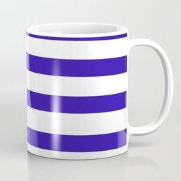 Purple and White Stripes Coffee Mug