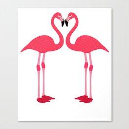 Pink Flamingo Bird Artistic Cute Adorable Animal design Canvas Print