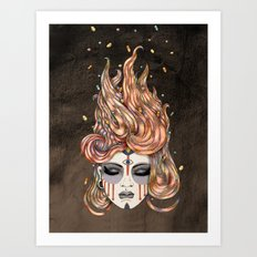 Died Young, Stayed Pretty Art Print