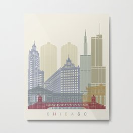 Chicago skyline poster Metal Print