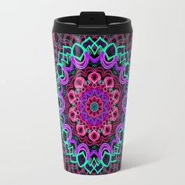 Project 208 | Colorful Mandala on Black Travel Mug