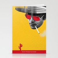 hunter s thompson Stationery Cards featuring Hunter S. Thompson by Zmudart