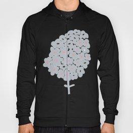 Grey Flowers Hoody