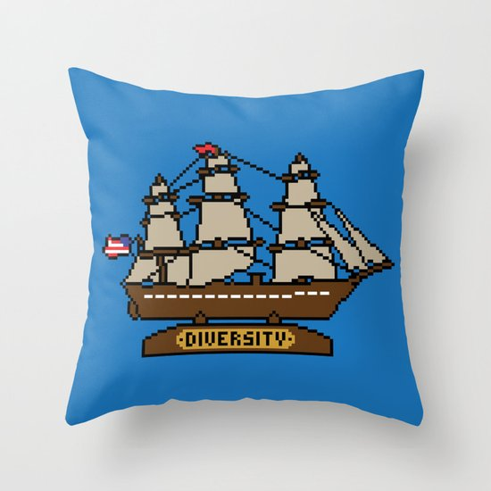 Anchor Pixel Throw Pillow