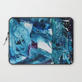 Faces in blue Laptop Sleeve