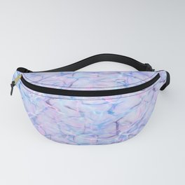 Abstract pink teal lavender watercolor marble pattern Fanny Pack