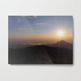 Sunset on Mountain Metal Print