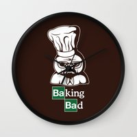 baking Wall Clocks featuring Baking Bad by Mike Handy Art