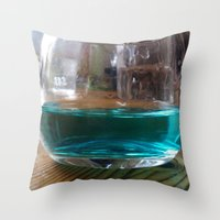 drink Throw Pillows featuring drink by Beatrice