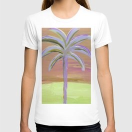 purple palm T-shirt