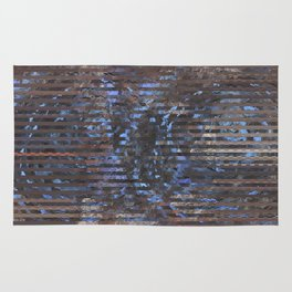 Abstract blue and brown Rug