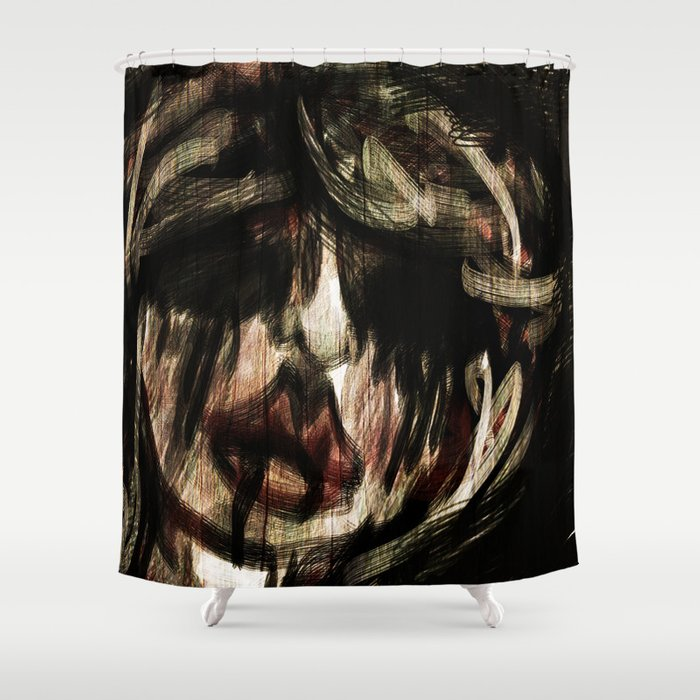 Spooky Shower Curtain By Abowlofsnowflakes