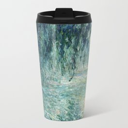 1898-Claude Monet-Morning on the Seine- 73 x 91 Travel Mug