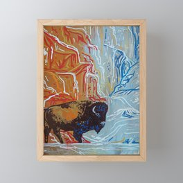 Yellowstone Bison Framed Mini Art Print