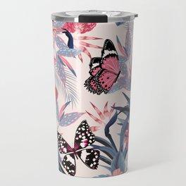pink butterfly garden Travel Mug