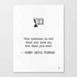 Henry D. Thoreau Canvas Print