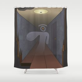 spectral glance Shower Curtain