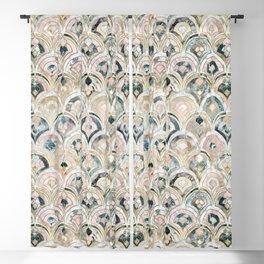 Art Deco Marble Tiles in Soft Pastels Blackout Curtain
