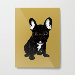 Brindle French Bulldog Metal Print