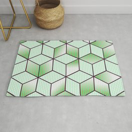 Electric Cubic Knited Effect Design Rug