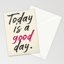 Today is a good day, positive vibes, thinking, happy life, smile, enjoy, sun, happiness, joy, free Stationery Cards