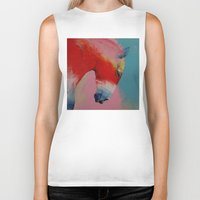 horse Biker Tanks featuring Horse by Michael Creese