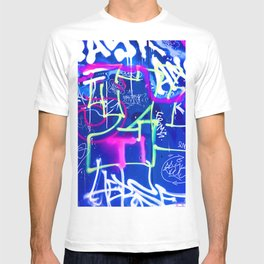 Blue Mood with Pink Language T-shirt