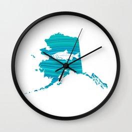 Alaska Wave Salmon Fishing Wall Clock
