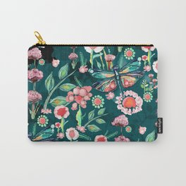 Botanical Dragonfly Garden Carry-All Pouch