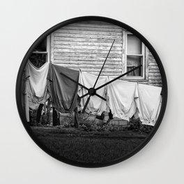 Amish Laundry Wall Clock