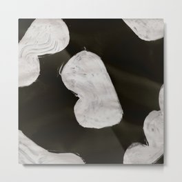 Bump, Abstract, White & Black Metal Print