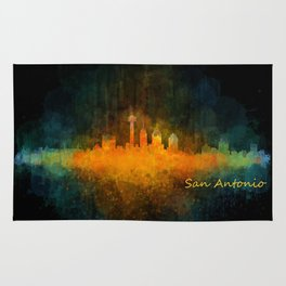 San Antonio City Skyline Hq v4 Rug