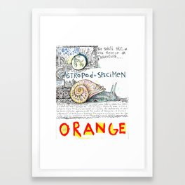 Snail Orange Alert Framed Art Print