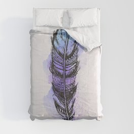 AP089 Watercolor feather Comforters