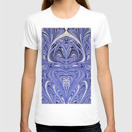 Mirror Blue Oil Gestalt Abstract II T-shirt