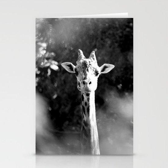 portrait of giraffe Stationery Cards
